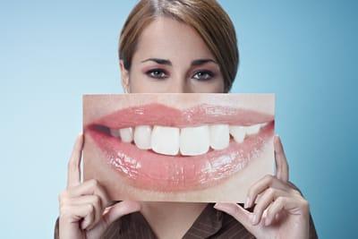woman with big smile photo