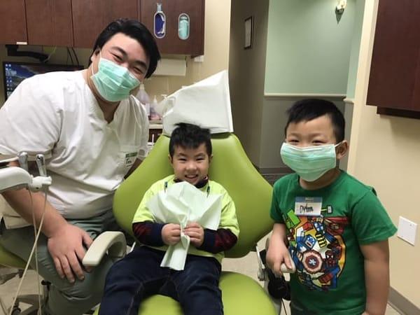 calgary children's dentist at work