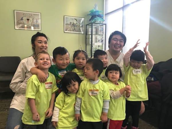 group of children at calgary dentist office
