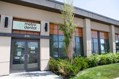 front of Metro dental Care office